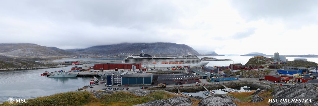 MSC Cruises arrives in Greenland for the first time