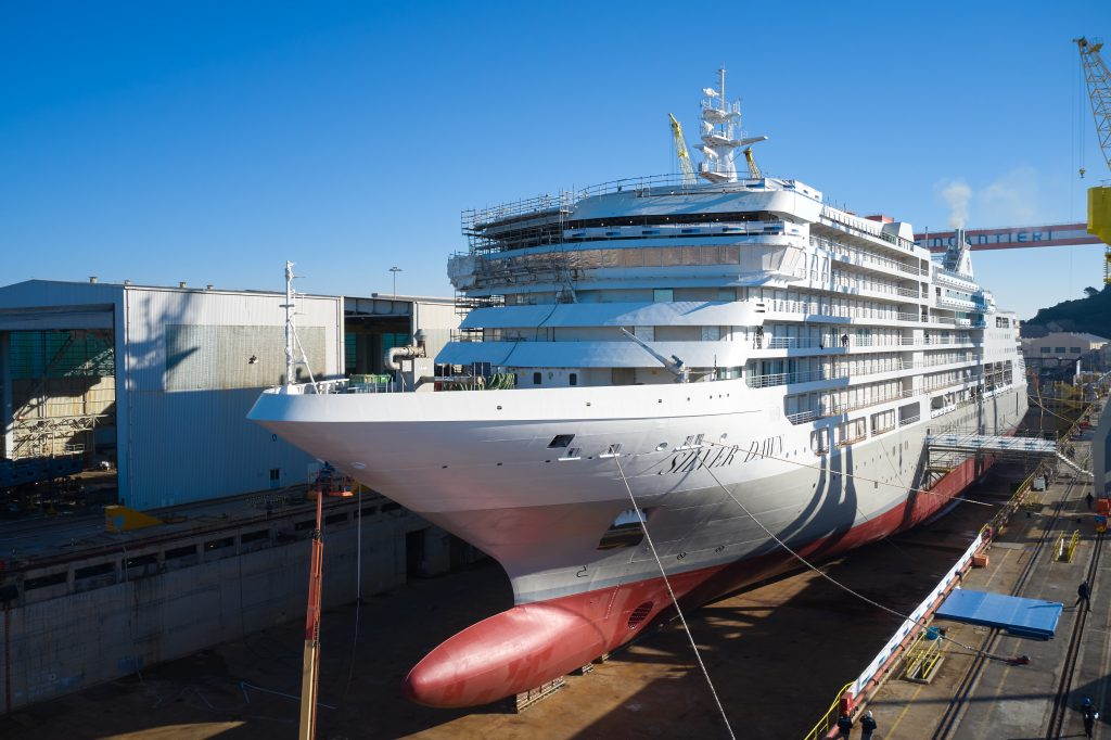 Silver Dawn: float out for a new Silversea ship