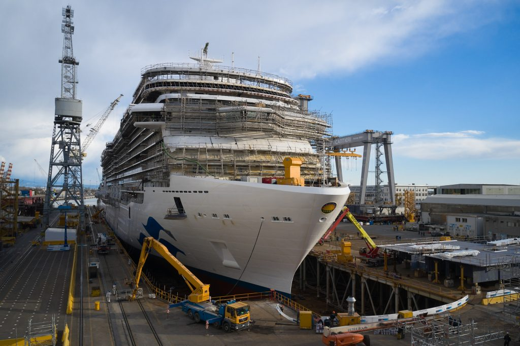 discovery-princess-float-out-interior-fittings-underway