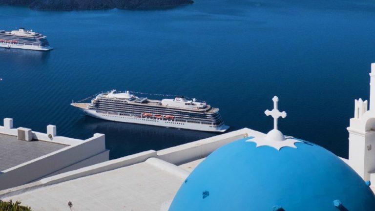 Viking Cruises in Santorini