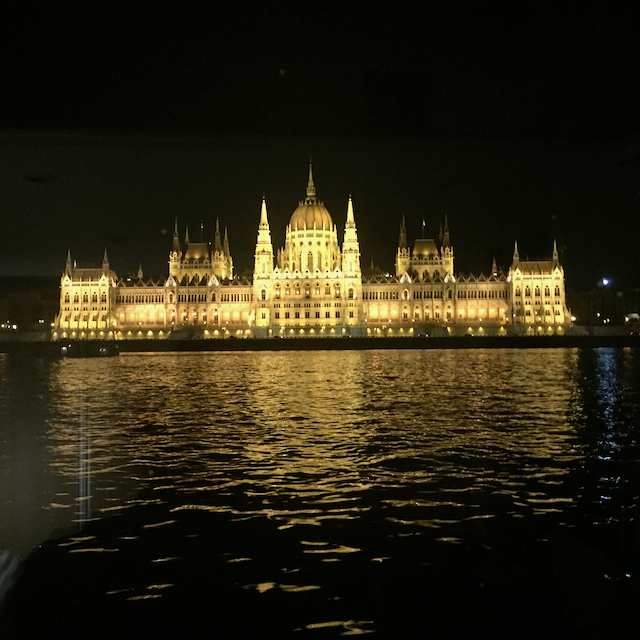 Actual view from Emerald dock of Hungarian Parliament Bldg