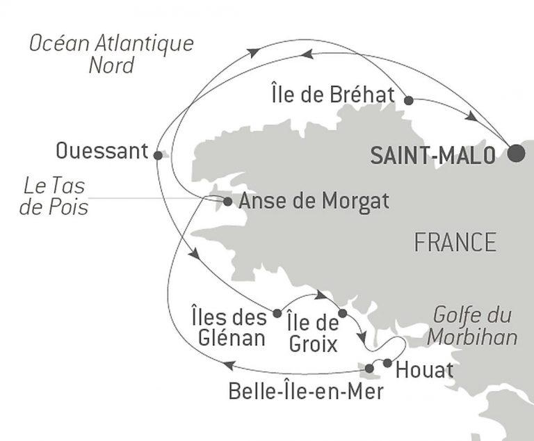 Itinéraire Bretagne Ponant