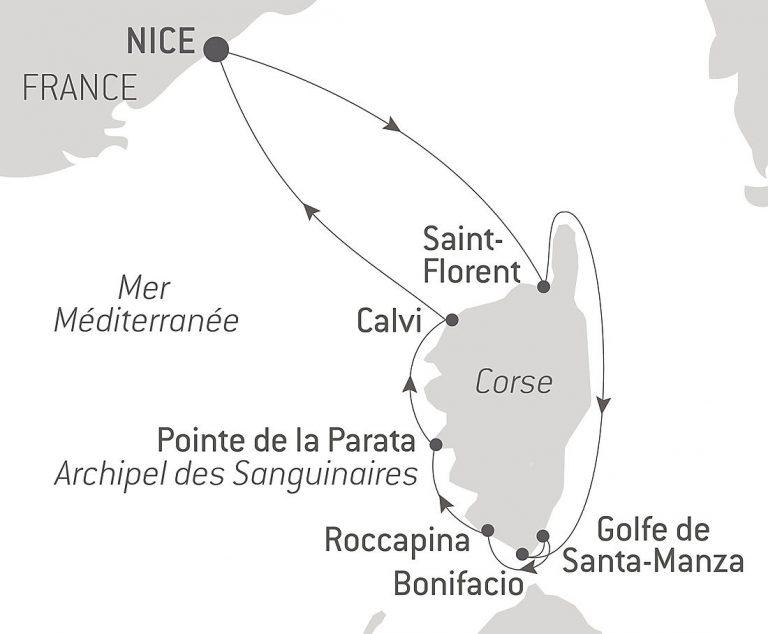 Itinéraire Nice Ponant