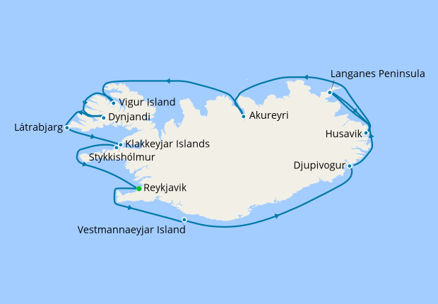 Iceland Itinerary Silversea