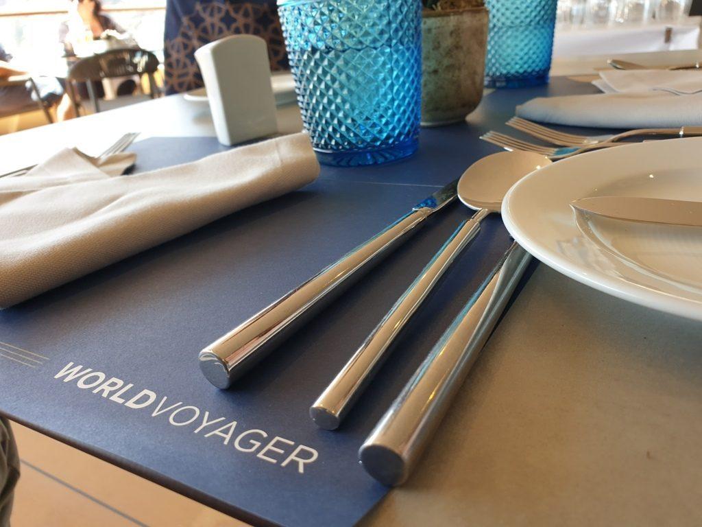 Essen an Bord der World Voyager
