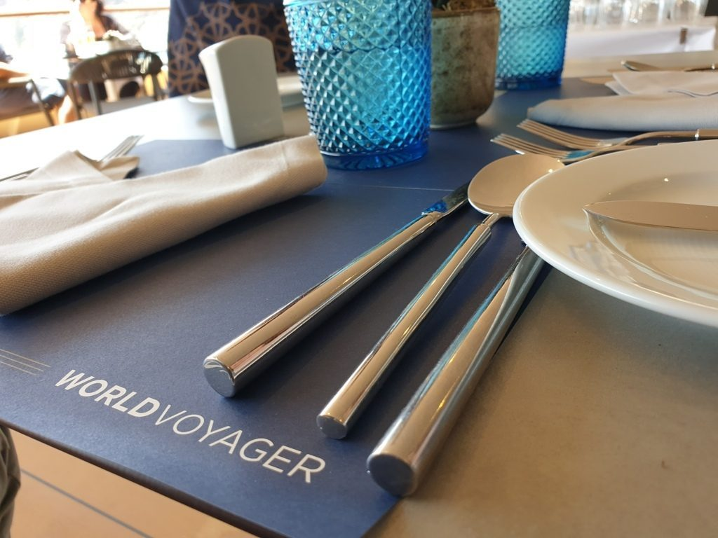 The dining on board World Voyager