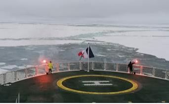 Le Commandant Charcot at the North Pole