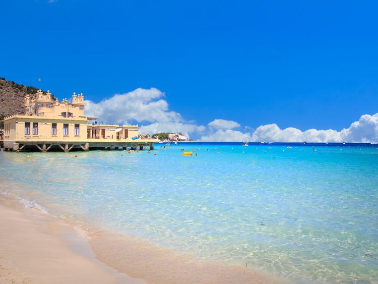 Mondello beach in Palermo
